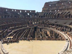 Colosseumin sisäosa