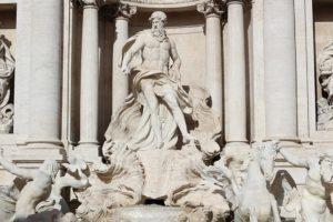 Vieraile Rooman fontana di trevillä